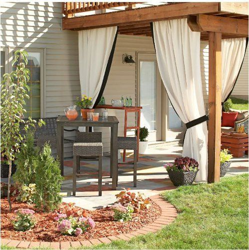 Privacy curtains are still a great choice for a more traditional garden space
