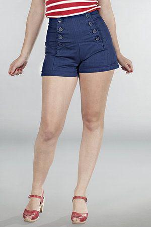 Emmy Design The gorgeous garter shorts. Dark navy denim
