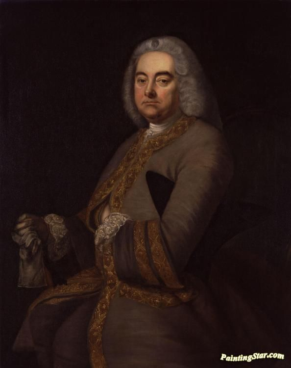 George frideric handel Artwork by Thomas Hudson Hand-painted and Art Prints on canvas for sale,you can custom the size and frame