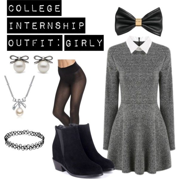 College Internship Outfit: Girly