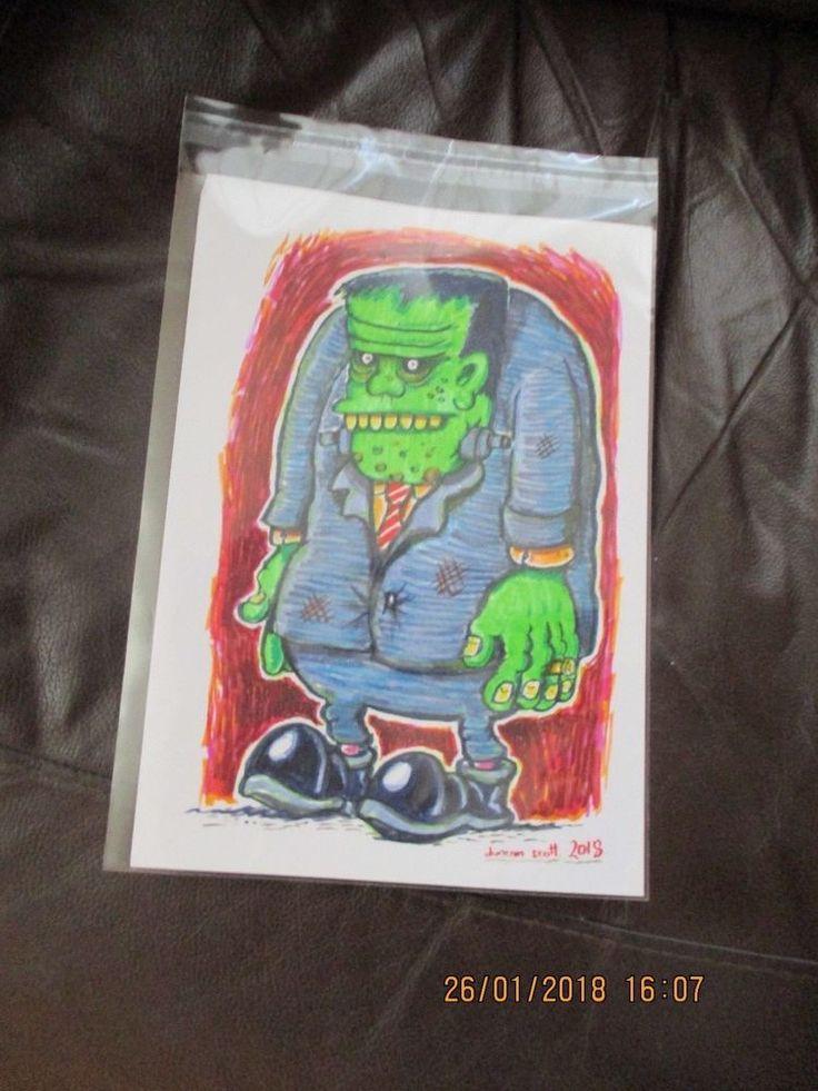 "Original Hand Drawn ""FRANKENSTEIN"" by Beano Dandy comic Artist Duncan Scott"