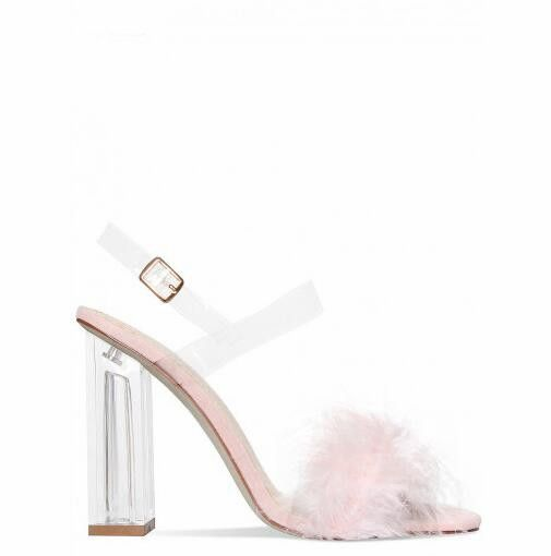 2017 summer women crystal heels high heels sandals women faux fur women sandals fashion mixed colors ladies shoes big size 35-42