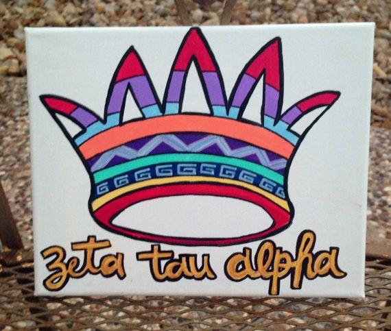 Zeta Tau Alpha Tribal Painting on Etsy, $17.99