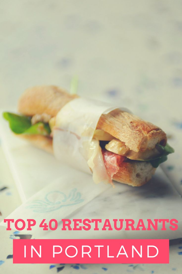 The 40 best restaurants in Portland. http://trib.al/lFzmogZ