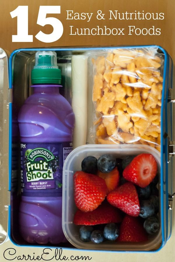 Easy Lunchbox Ideas (no crazy crafting skills to make lunches with these convenient and nutritious kid-friendly foods!) #fuelyourimagination #fruitshoot #sponsored