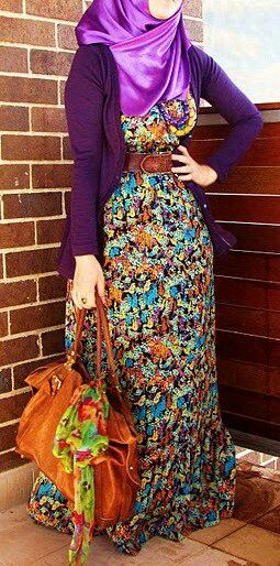 #hijab I like these colors. Good for fall.