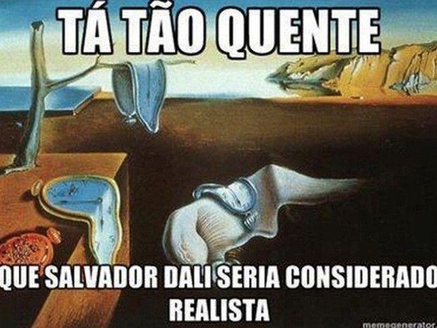 Meme brinca com pintura de Salvador Dali (Foto: Reprodução/Twitter/Artes Depressão)