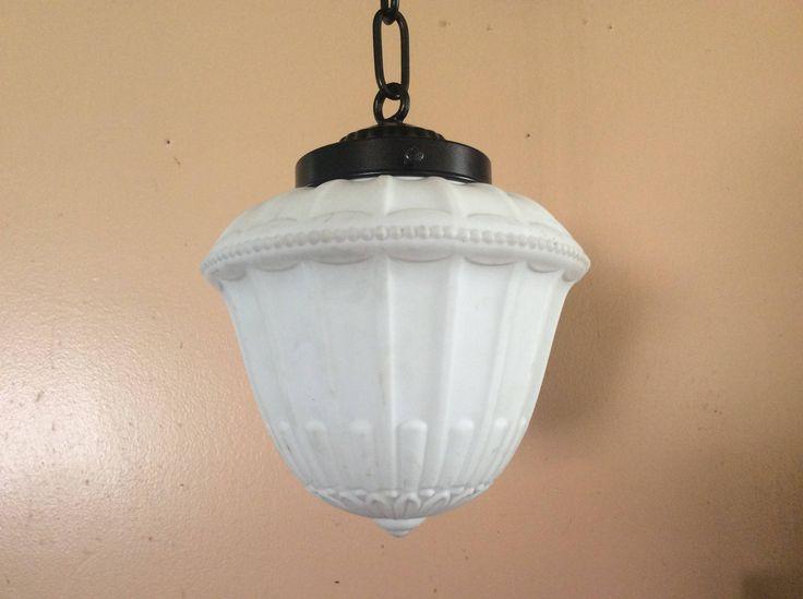 Antique Vintage Victorian Acorn Pendant Light 1930s Art