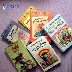Meine liebsten Lieblingsbücher von Christine #Nöstlinger: Luki-live, Nagle einen Pudding an die Wand!, Olfi Obermeier und der Ödipus, Gretchen Sackmeier , Gretchen hat Hänschenkummer , Gretchen hat Hänschenkummer. Klickt auf das Bild, um zu meinem Zitatdenkmal aus drei dieser Titel zu gelangen :) #bookquotes