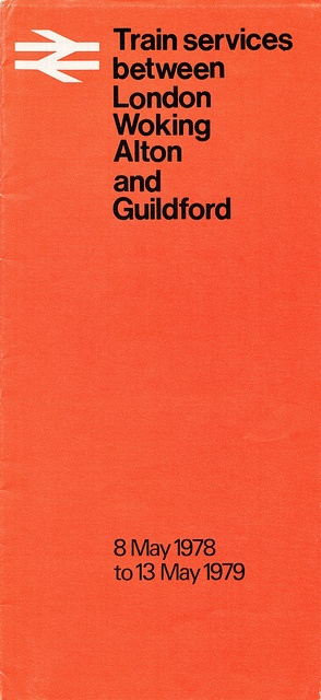 london to guildford timetable 1978 by smallritual, via Flickr