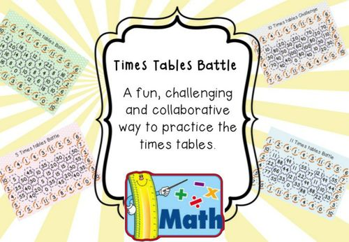 2 - 11 times tables board game