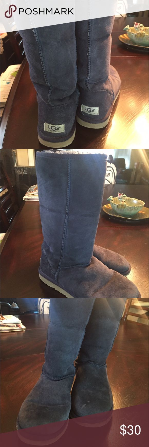 Navy blue uggs Worn UGG Shoes Winter & Rain Boots