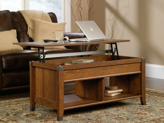 Sauder Carson Forge Lift Top Coffee Table Turns Your Living Room Into An Office High Tech Always On The Edge Pinterest
