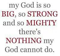My God is MIGHTY!
