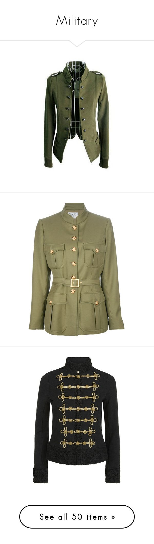 """""""Military"""" by maymchale ❤ liked on Polyvore featuring outerwear, jackets, coats, tops, green, mandarin collar jacket, green jacket, green military style jacket, olive green military jacket and long sleeve jacket"""