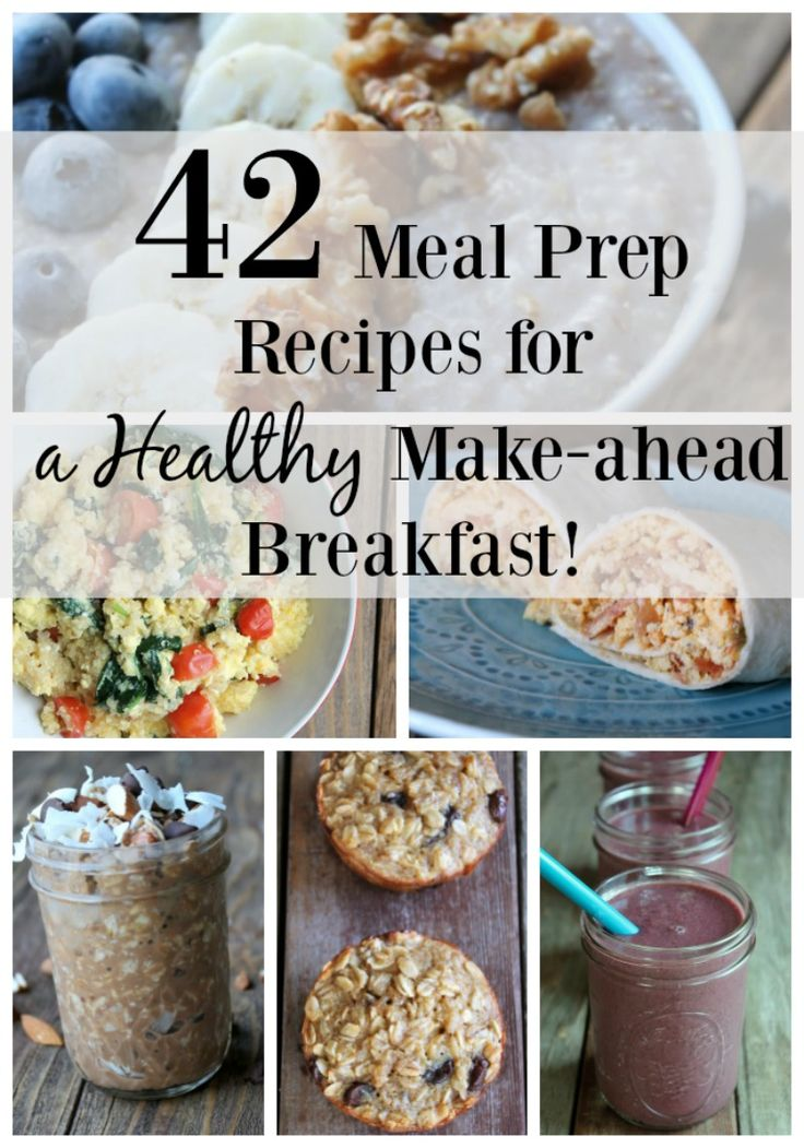 This post is absolutely perfect for anyone struggling to eat a healthy breakfast. There are 42 healthy recipes you can make during Sunday meal prep so you can eat healthy all week. In this recipe round up there are meal prep recipes, meal prep video tutorials, and lots of helpful food prep tips and tricks. Save this pin because you will be referring back to it again and again.