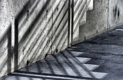 Light on concrete  Source unknown