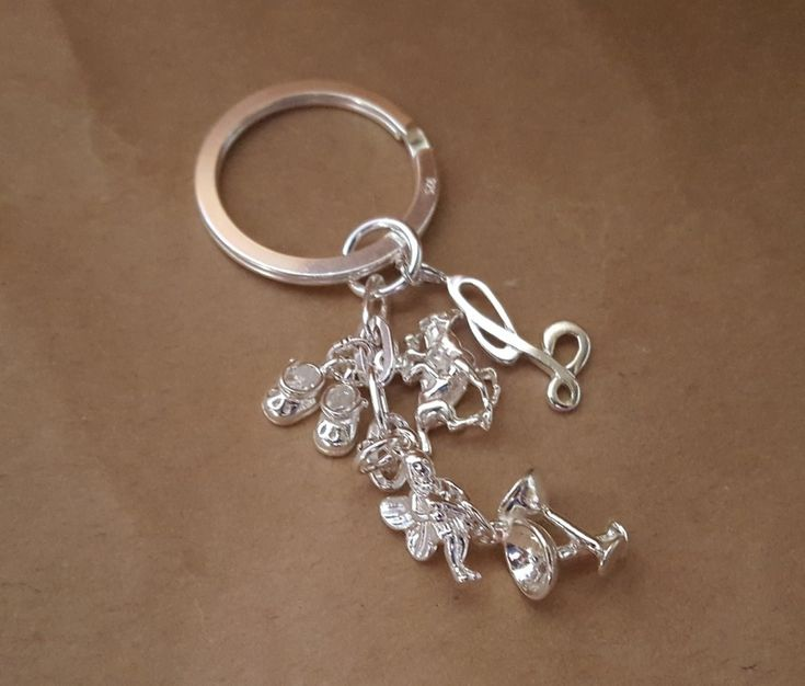Keyring - DANGLE CHARM ATTACHMENT - Sterling Silver