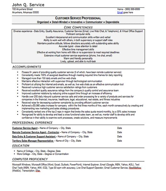 Customer Service Resume Sample, Free Resume Template, Professional ...