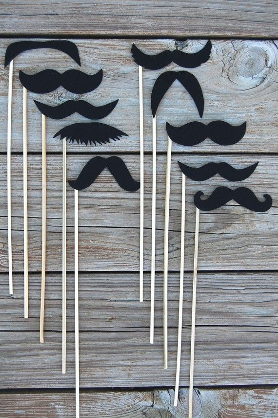 mustaches on a stick!