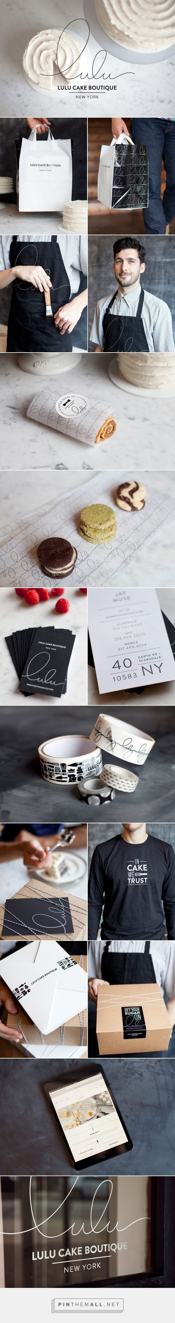 New Brand Identity for Lulu Cake Boutique by Peck and Co - BP&O. Graphic design, Branding, packaging. - created via https://pinthemall.net