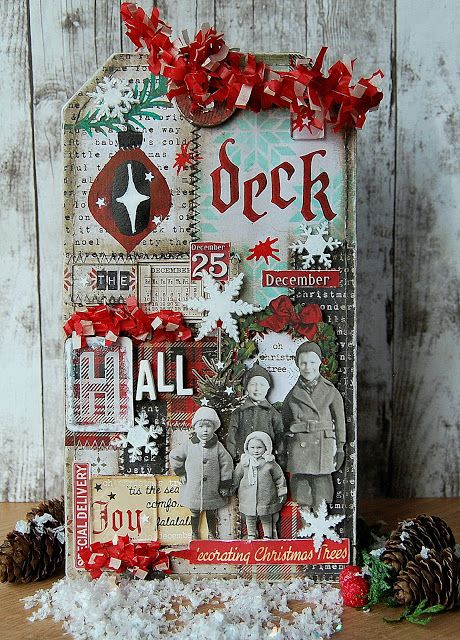 Tim Holtz Holiday Inspiration Series 2017 - Deck The Hall Home Decor Etcetera Tag
