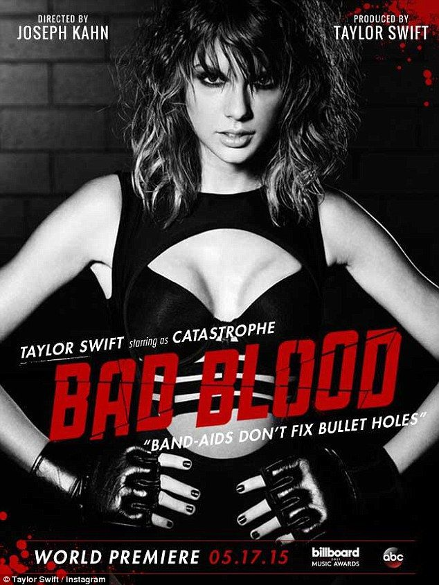 Ready to rumble: Taylor Swiftreleased a new look at her mysterious alter ego 'Catastrope'...