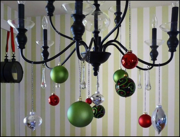 17 best images about bakers twine on pinterest for Hanging ornaments from chandelier
