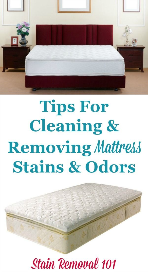Tips For Cleaning And Removing Mattress Stains Odors On Stain Removal 101