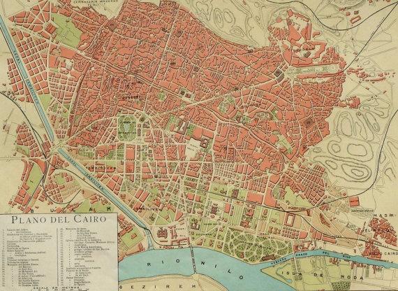 Map Of Cairo Egypt City