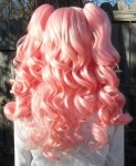 pink gothic lolita ponytail wig back view