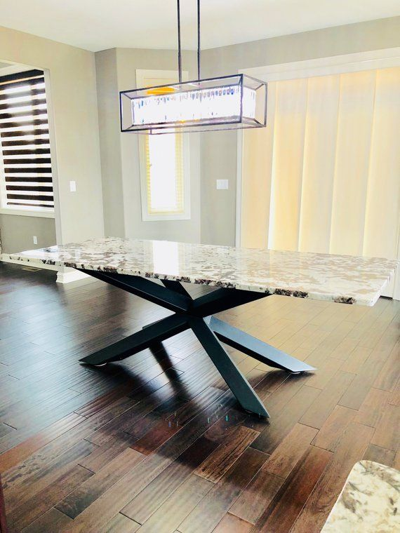 Industrial Dining Table Kitchen Table Base In 2020 Metal Base