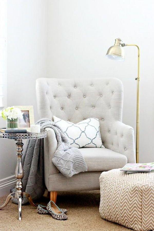 Фото из статьи: 30 идей полезного использования углов вашей квартиры. Уголок для чтения