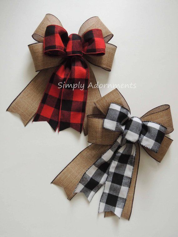 "Red Burlap 1 1//2/"" Faux Natural Burlap Christmas Burlap Ribbon Wreath Bow"