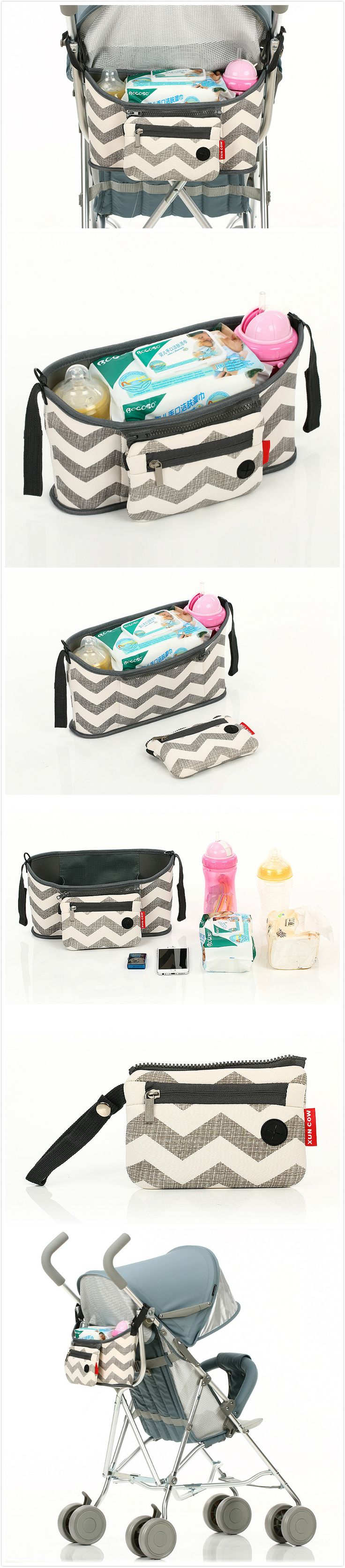 Baby Diaper Bags For Strollers Waterproof Nappy Changing Bags Mommy Stroller Bags