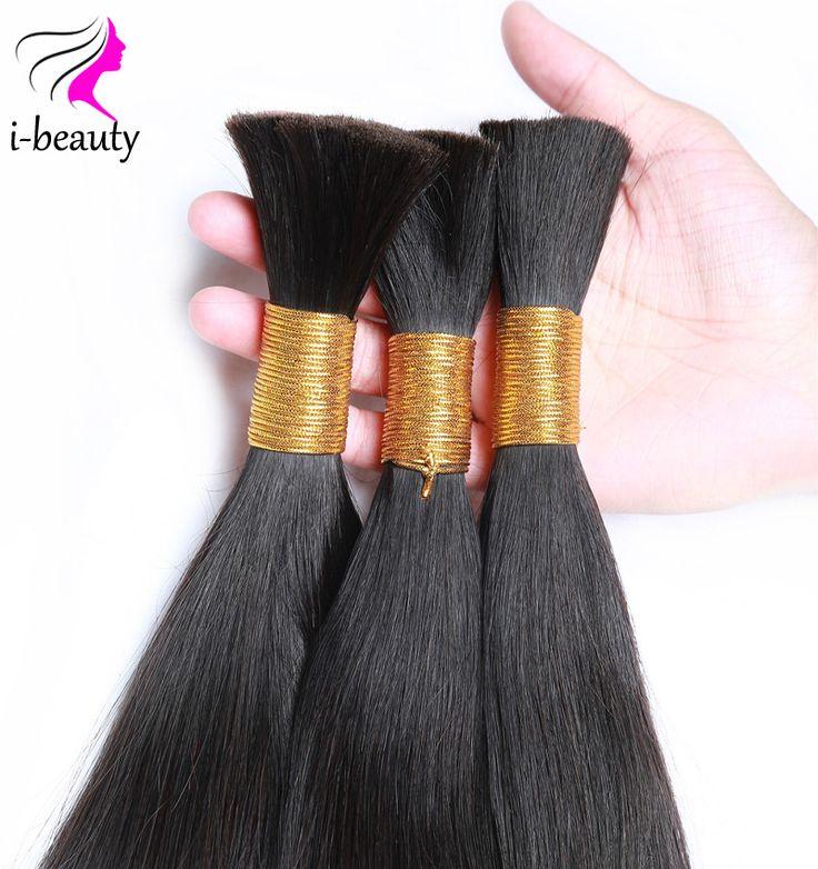 Humain Tressage de Cheveux En Vrac sans trame de Cheveux Humains En Vrac pour tressage de Cheveux Humains pour le Tressage Vrac Aucun Attachement Cheveux Brésiliens en vrac