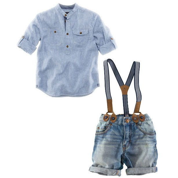 New 2016 Spring Kids Straps Clothing Sets for Boys England Style Cowboy Suits Shirt+Overall Children Casual clothing set, YC021-in Clothing Sets from Mother & Kids on Aliexpress.com | Alibaba Group