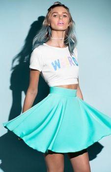 Newtown Skirt Mint   Beginning Boutique