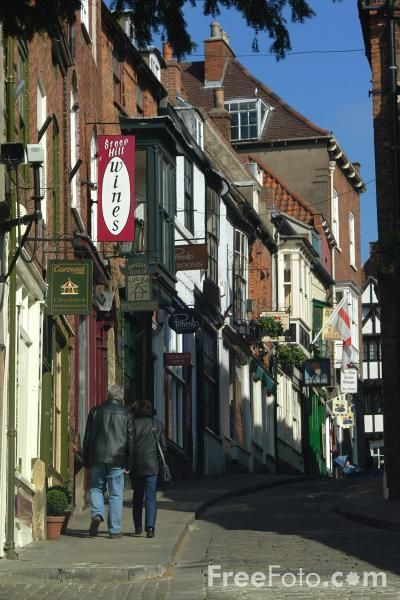 Steep Hill, Lincoln, England -  one of our favorite British towns. Free Pictures - FreeFoto.com