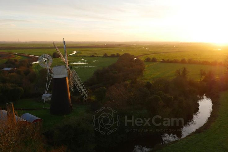 Polkey's Mill, Norfolk. Shot with DJI S900 hexacopter and Panasonic GH4.