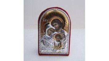 Μπομπονιέρες βάπτισης ασημένια εικόνα της Αγίας οικογένειας ιδανική μπομπονιέρα βάπτισης για κοριτσάκια και αγοράκια Μπομπονιέρες βάπτισης οικονομικές τιμές