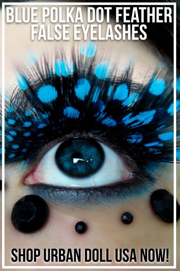 fe1a6f4865d Blue Polka Dot Feather False Eyelashes (2 Pairs) in 2019 | Hair ...