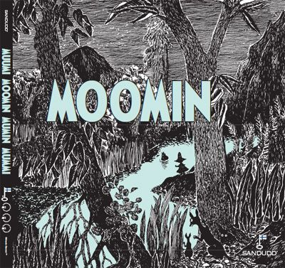 Moomin wallpaper, many versions, perfect for every room.