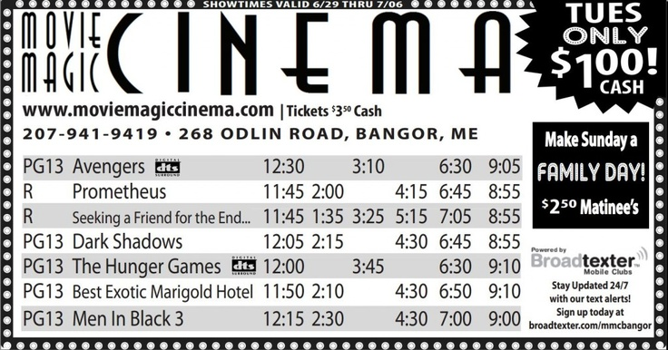 Movie Showtimes - Movie Magic Cinema