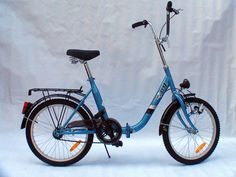"""A """"Pony"""" bicycle, Yugoslavia. Used to have one myself in a different colour. Mine was cherry-red."""