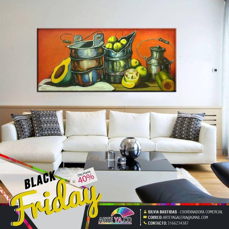 No olvides las mejores obras con descuentos #BlackFriday aprovéchalos. Obra: Bodegón naranja Autor: Sánchez Medidas: 150 cm x 70 cm