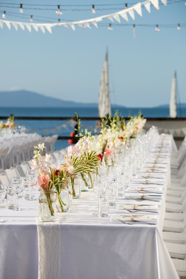 The deck can hold 200 people comfortably in banquet style seating and a little less on individual round tables