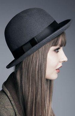 andshewore:    Tarnish Wool Bowler Hat