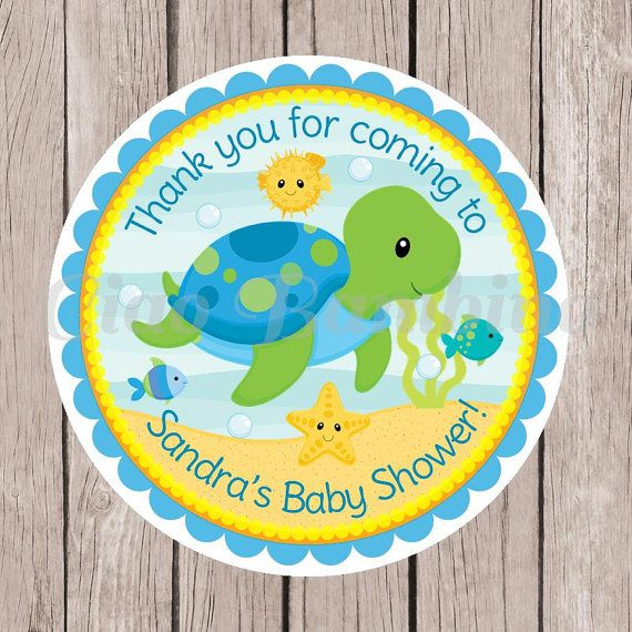 Under the Sea Baby Shower Favor Tags or Stickers / by ciaobambino
