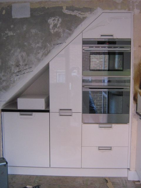 kitchen that could be under a staircase - Under Stairs Kitchen Storage